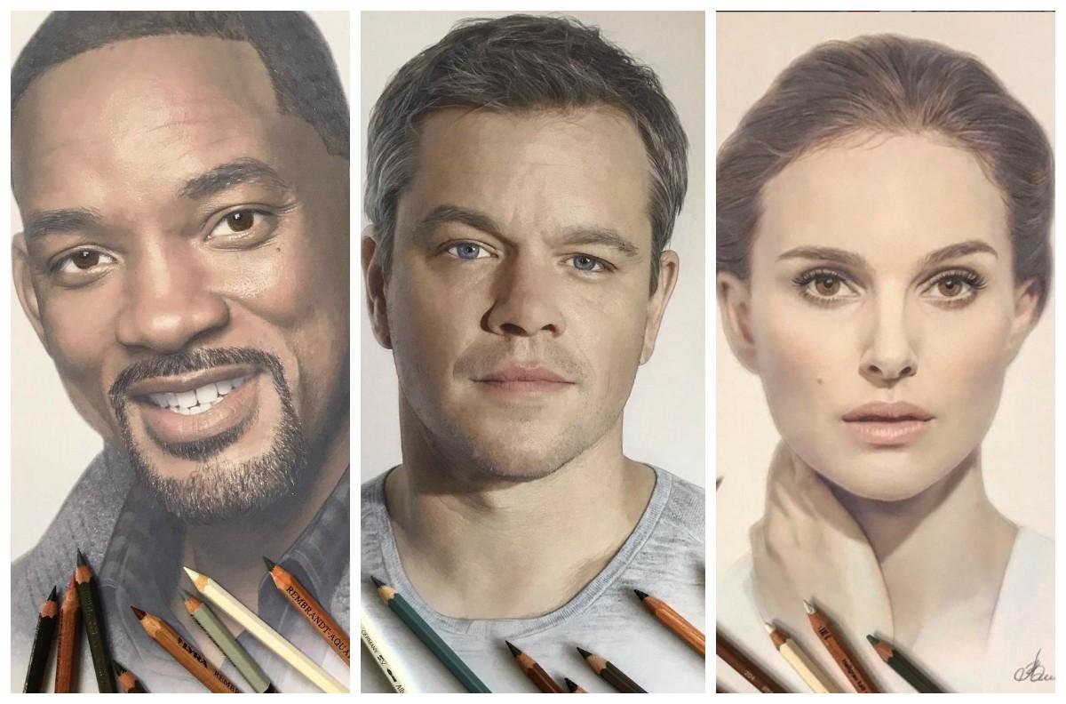 Только карандаши, а портреты готовы выпрыгнуть с листа: русская художница творит чудеса