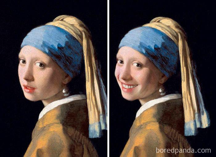 Улыбайте лица!: Обоятельный Ван Гог,довольная Фрида Кало и другие картины,»исправленные» с помощью мобильного приложения