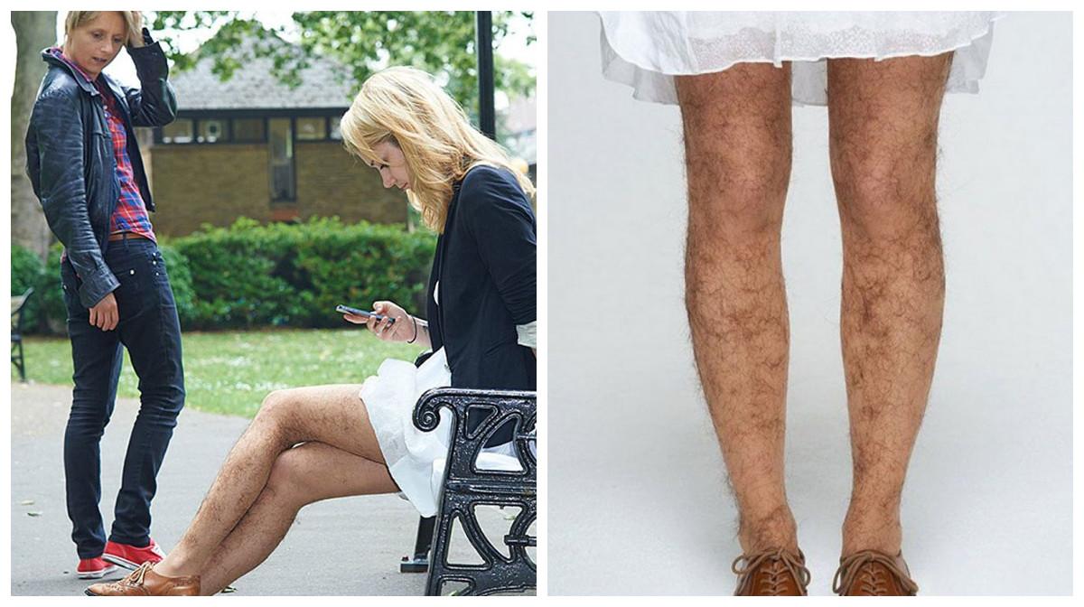 Новинка сезона – чулки, имитирующие волосатые ноги!