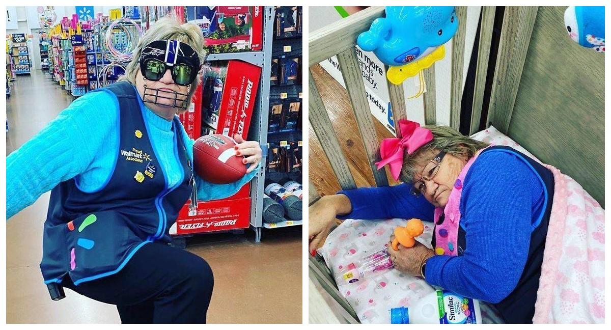 Харизматичная бабуся из универмага Walmart стала звездой соцсетей. Непосредственность – это наше все!
