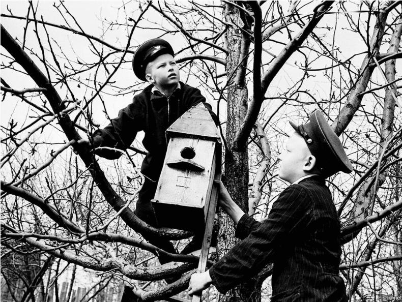 Весна в СССР на старых фотографиях