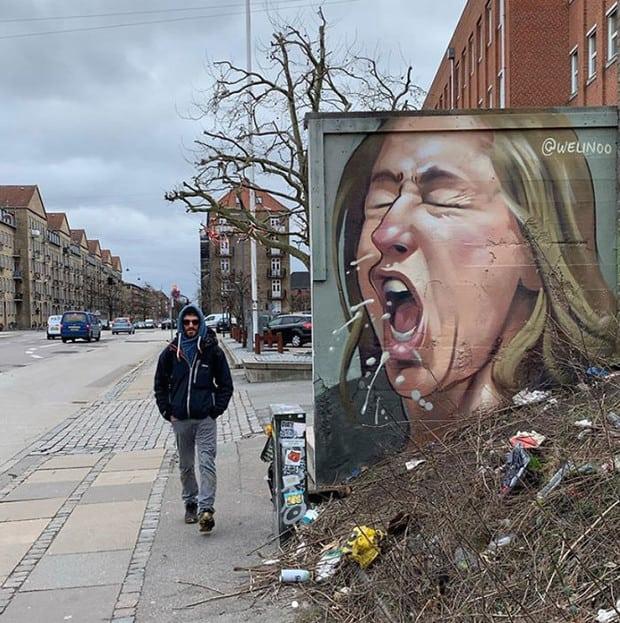 20 крутых граффити со всего мира на тему коронавируса