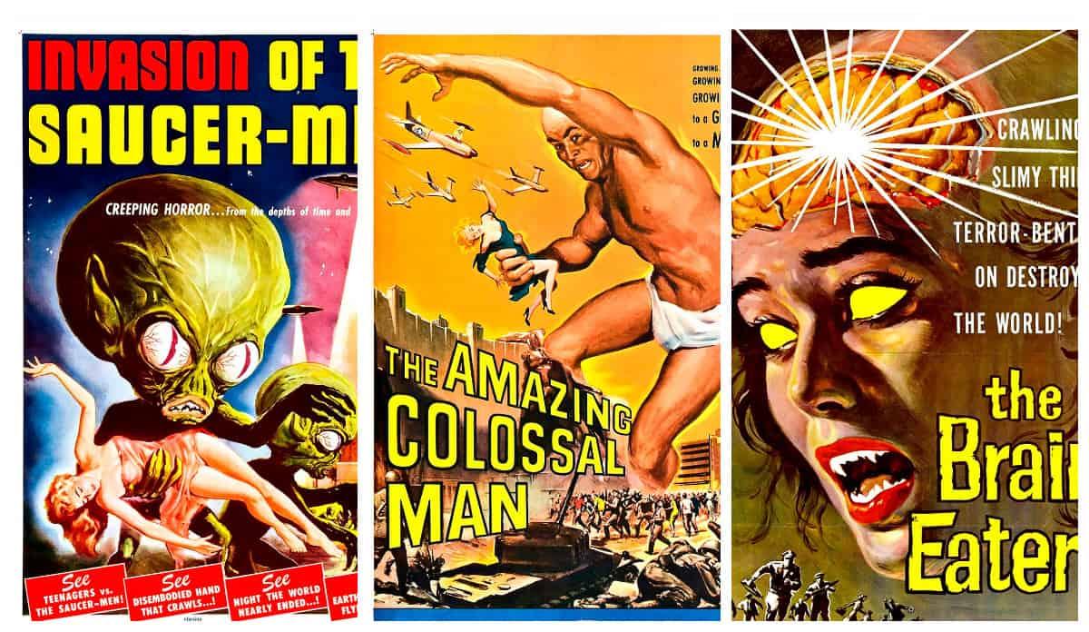 Смотрите в кино: трэшевые плакаты голливудских хорроров 50-х категории В