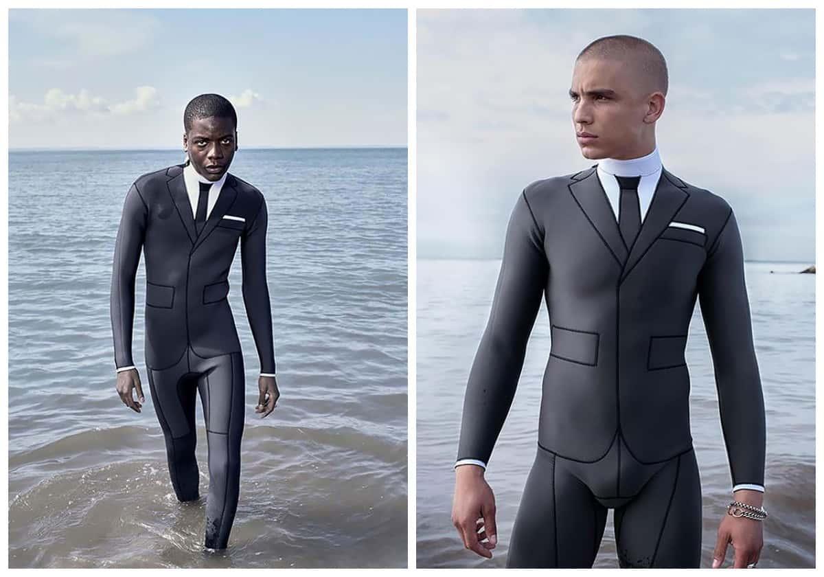 Дизайнер совместил деловой и купальный костюмы. Следующая планерка – на пляже!