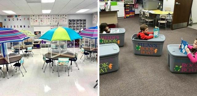 Креативные учителя, превратившие социальное дистанцирование в школе в веселую игру