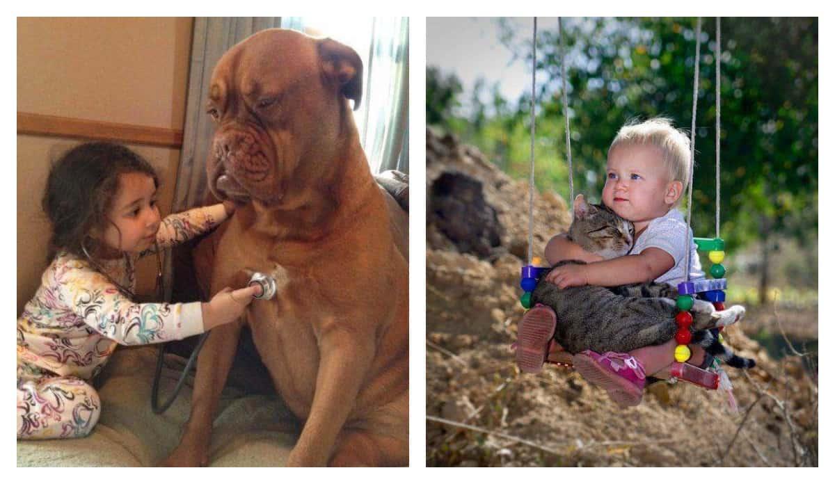 Дети и животные на одном фото — двойная порция милоты!