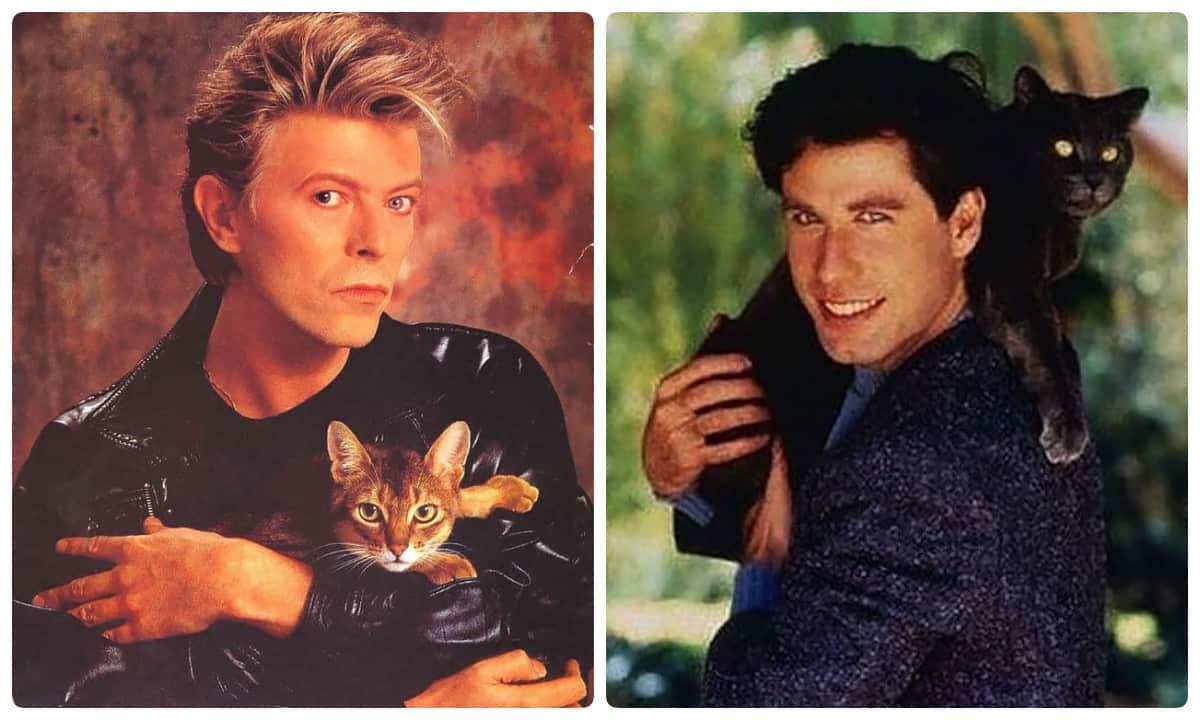 Необычные винтажные фото знаменитостей, запечатленных со своими любимыми котиками