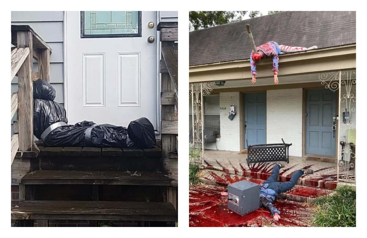 Последствия Хэллоуина: когда люди перестарались с кровавым декором домов и соседи вызвали полицию