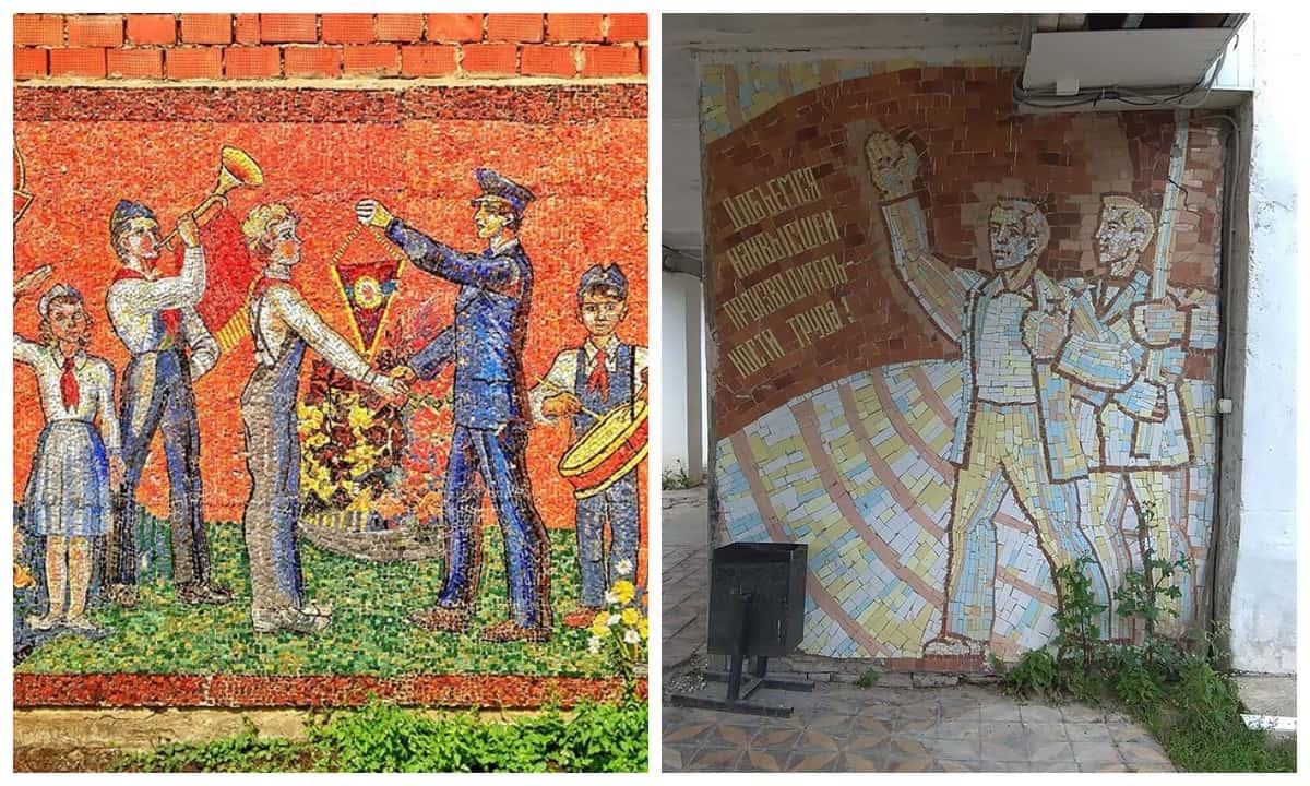Сюрреалистическое очарование советской агитационной мозаики: сохранившиеся осколки пропаганды