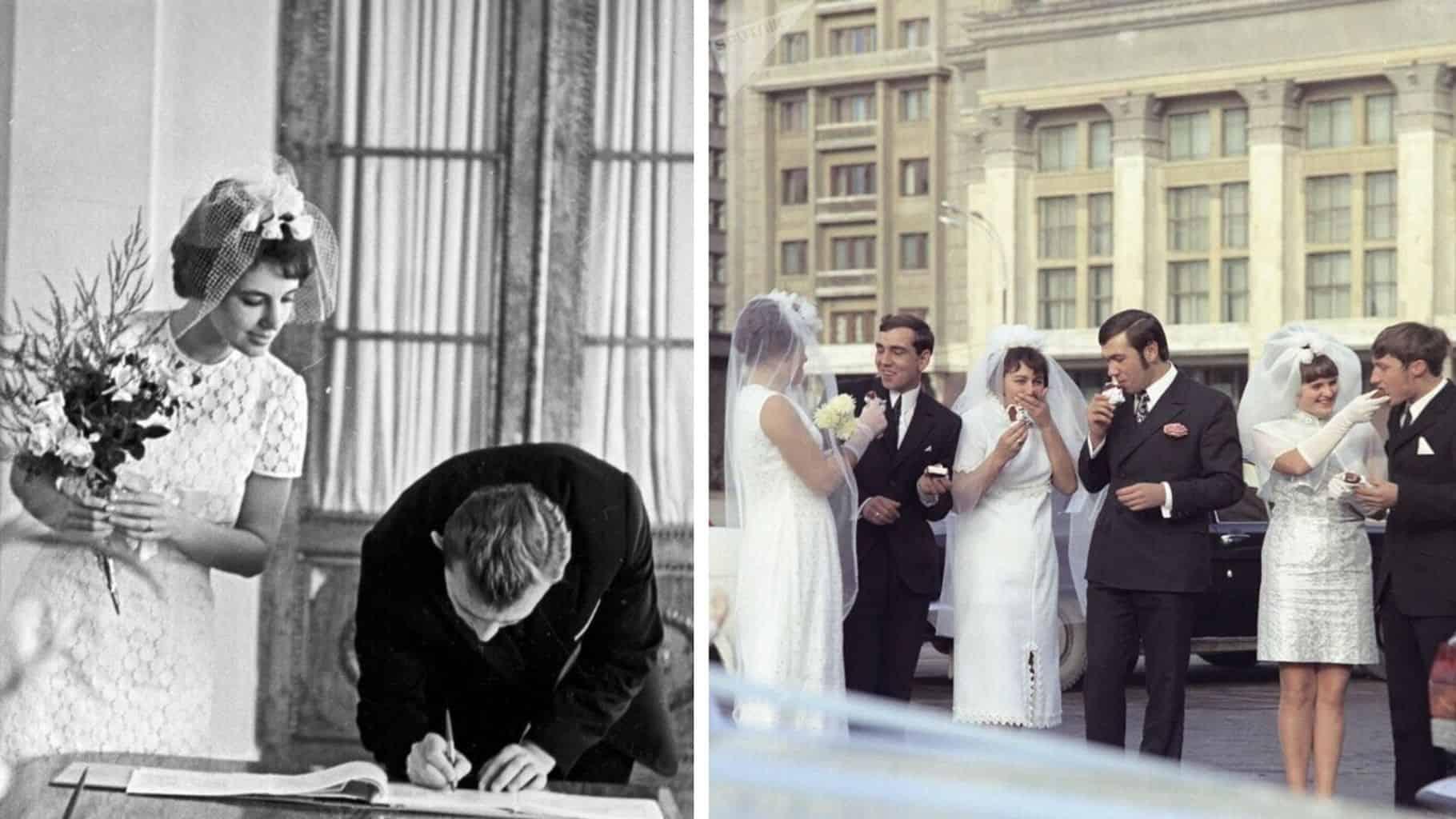 Без лимузинов и караоке: подборка свадебных фотографий советской эпохи