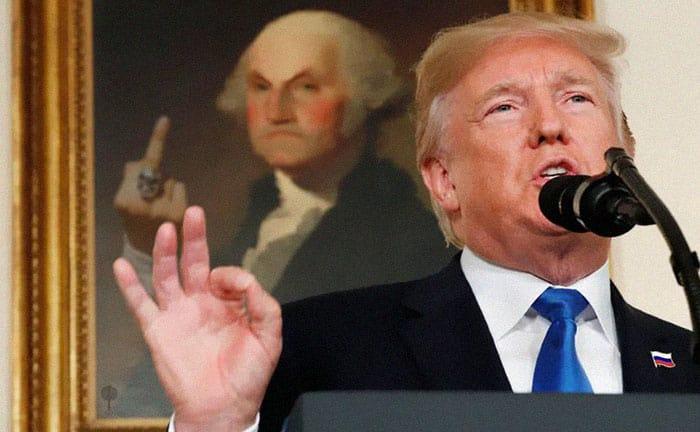Кто-то редактирует картины на фотографиях Трампа, чтобы показать, как предшественники относятся к его президентству