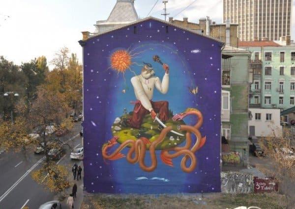 Граффити размером со стену домов (10 фото)