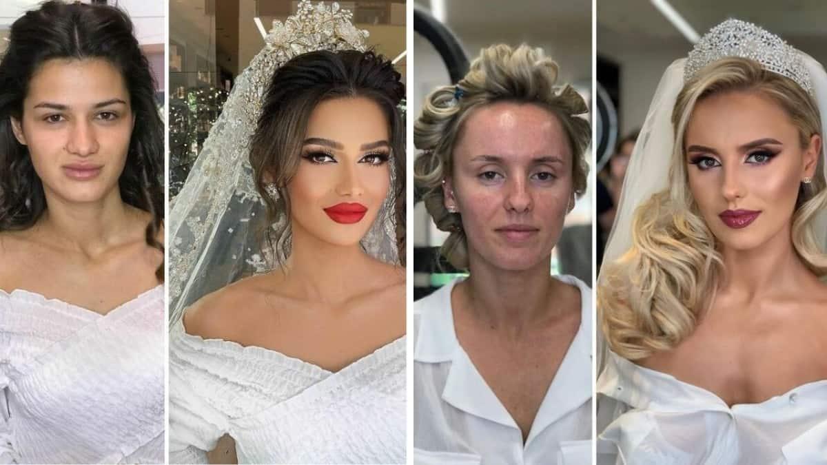 Когда любимую не узнать - невесты с макияжем и без