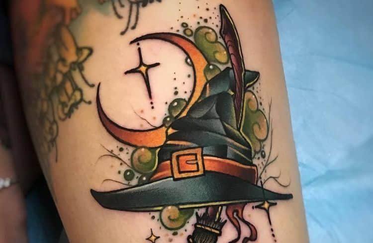 Волшебные татуировки на тему колдовства и магии (19 фото)