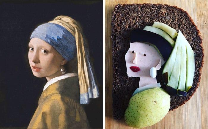 Великая живопись на бутербродах (20 фото)