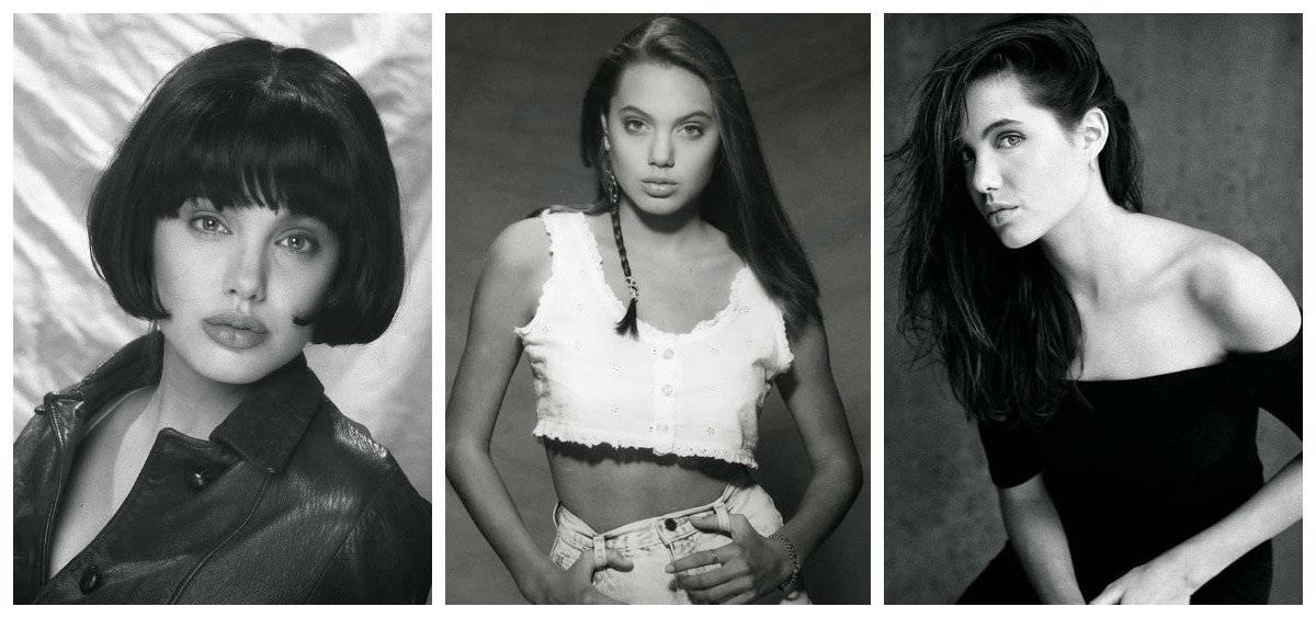 Анджелина Джоли, какой вы ее еще не видели: первые фотосессии 15-летней красавицы