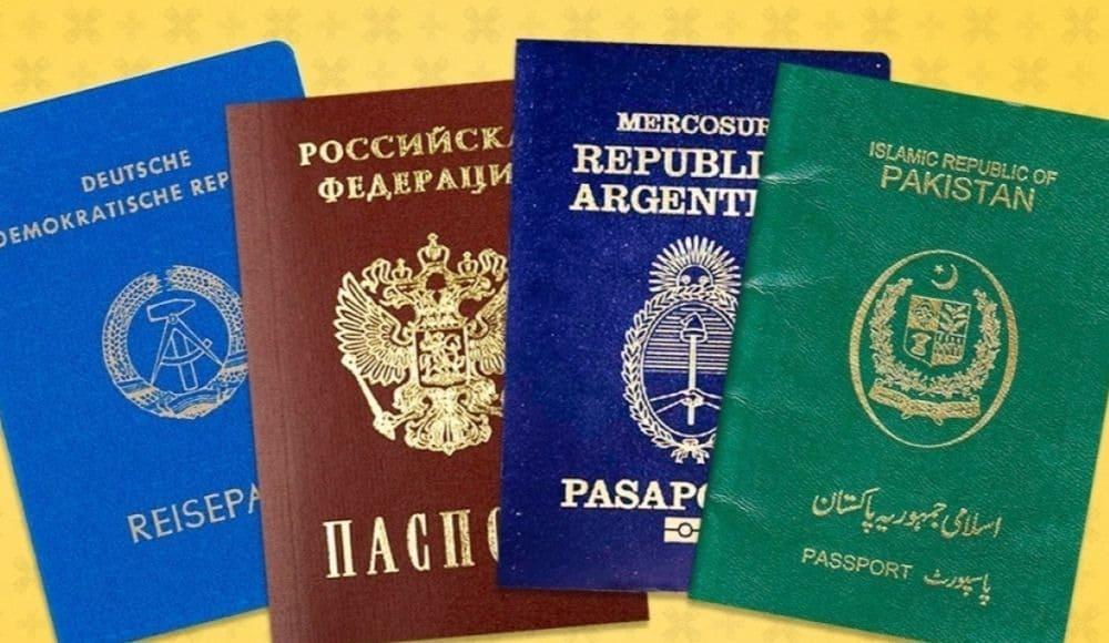 В мире существует только четыре цвета паспортов, и вот почему...