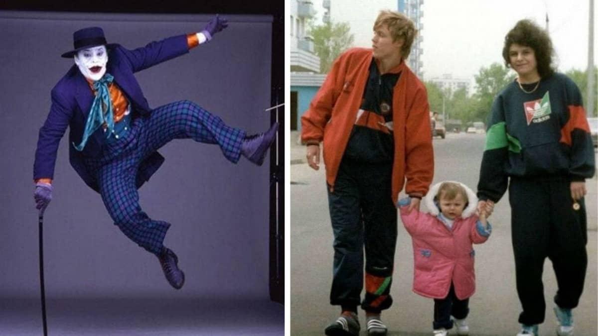 Николсон в прыжке и типичная семья из 90 -ых в нашей подборке исторических фото