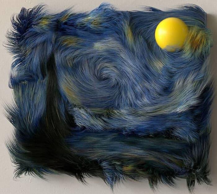 Художник создает пушистые версии знаменитых произведений искусства