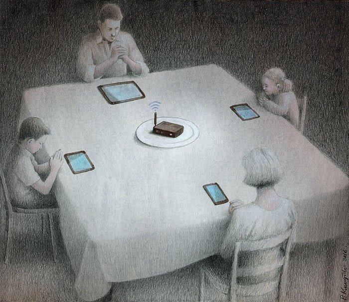 32 едкие карикатуры Павла Кучинского, заставляющие взглянуть на современные пороки под другим углом
