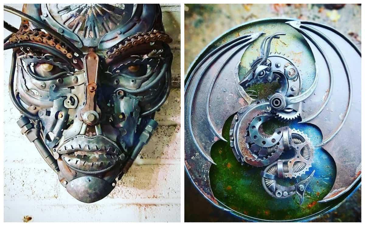 Удивительные скульптуры, сделанные из металлолома Аланом Уильямсом (20 фото))