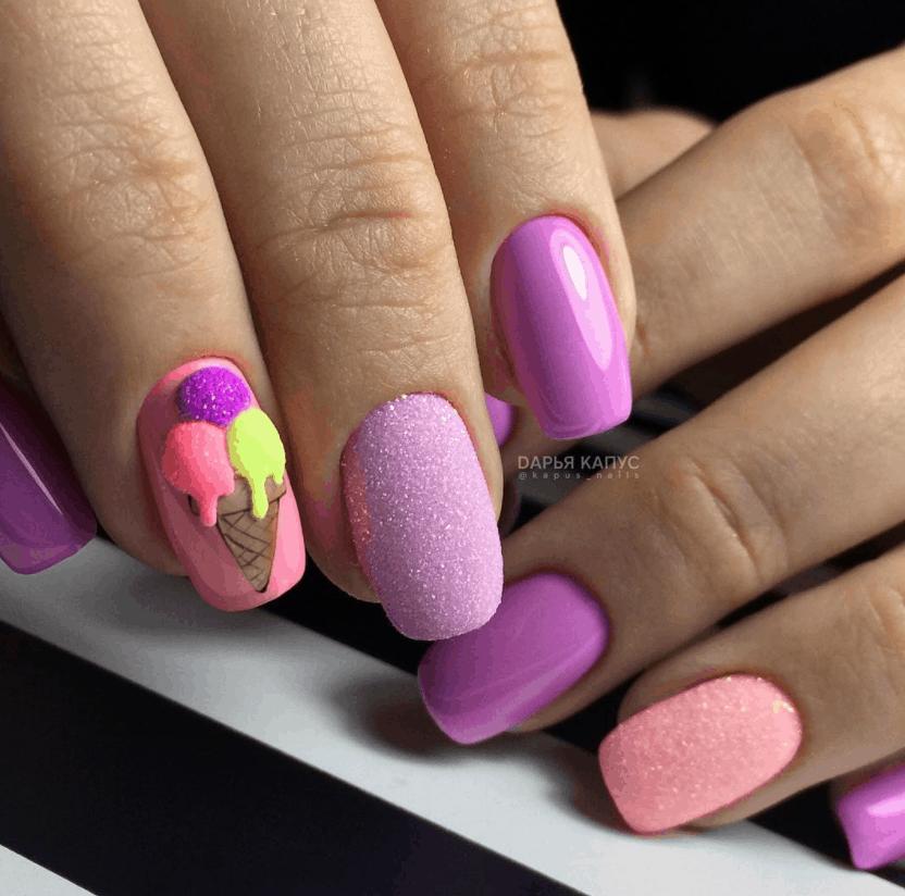 Мороженое на ногтях: 25 примеров самого летнего маникюра
