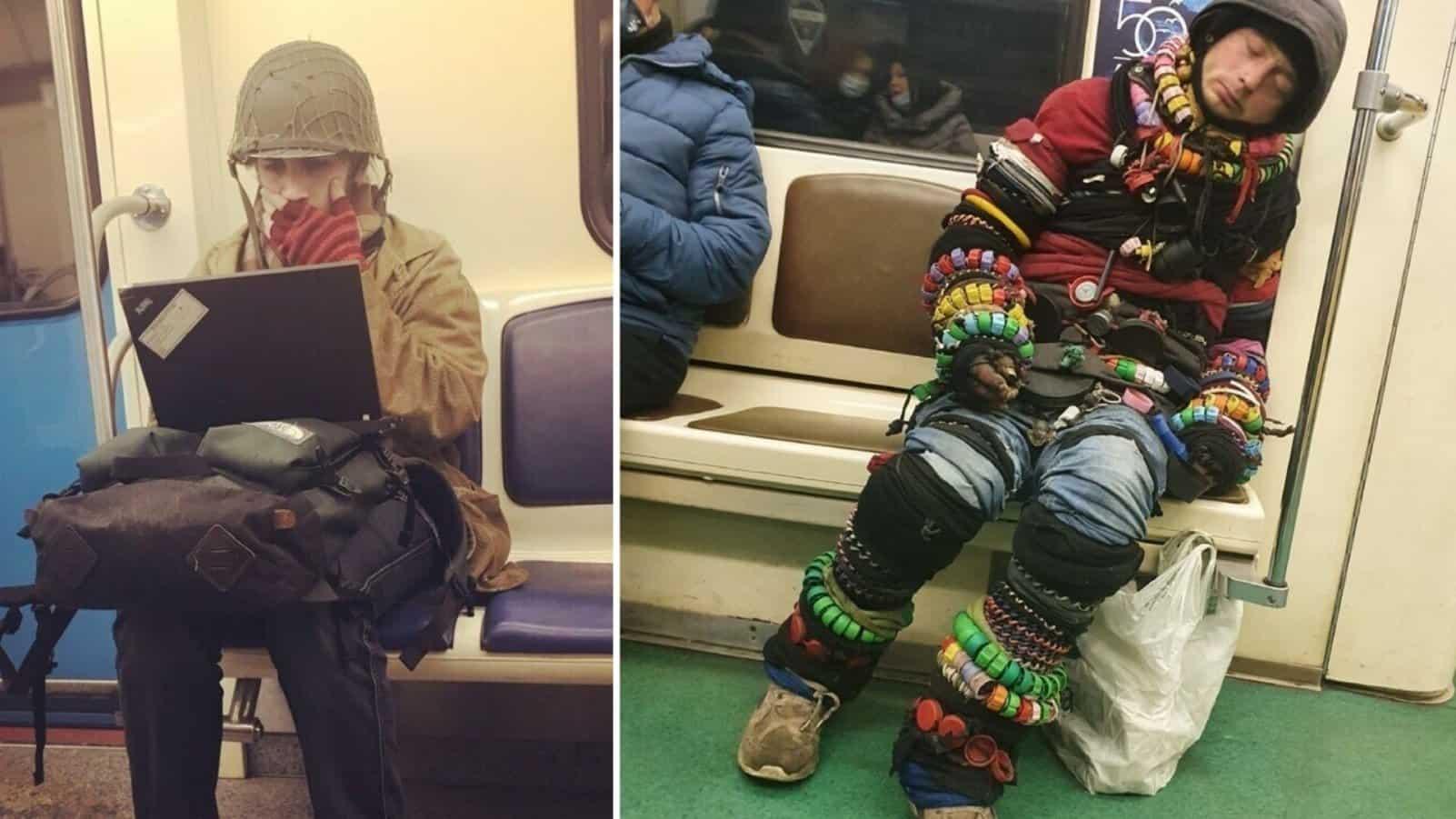 Чудики московского метро в своем естественном ареале обитания