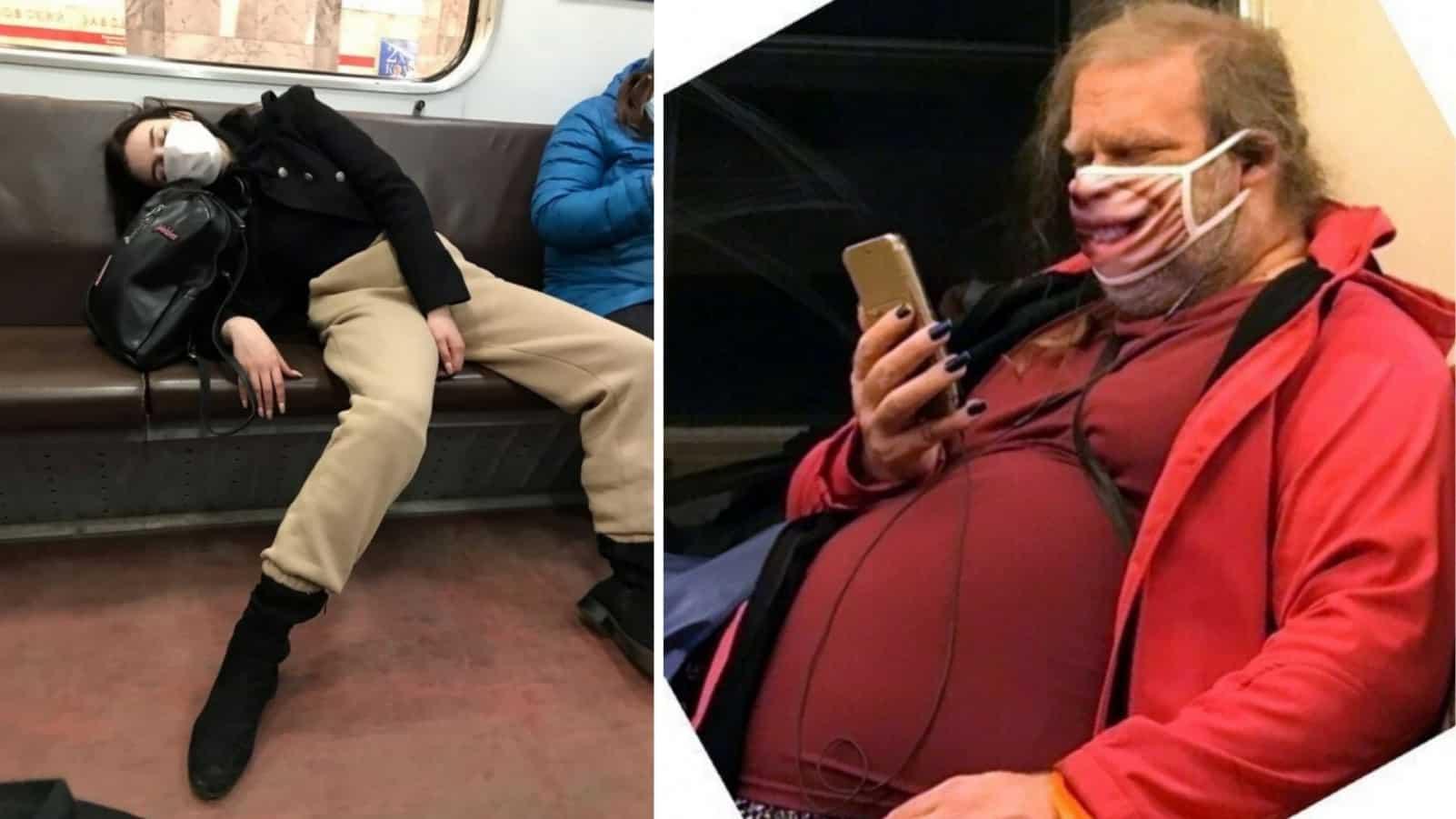 Немного экстремальных модников, которые встречаются в метро