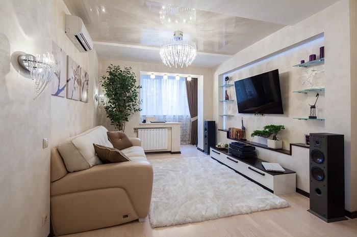 8 идей, как увеличить высоту потолка в квартире, ничего не ломая