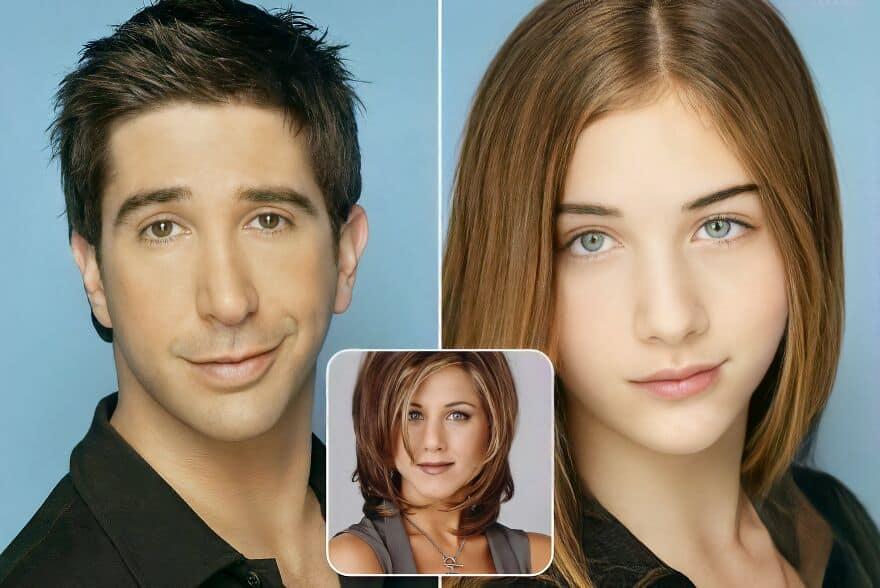 Как выглядела бы дочь Россаи Рэйчел из «Друзей», и дети других киношных пар, если бы они у них были