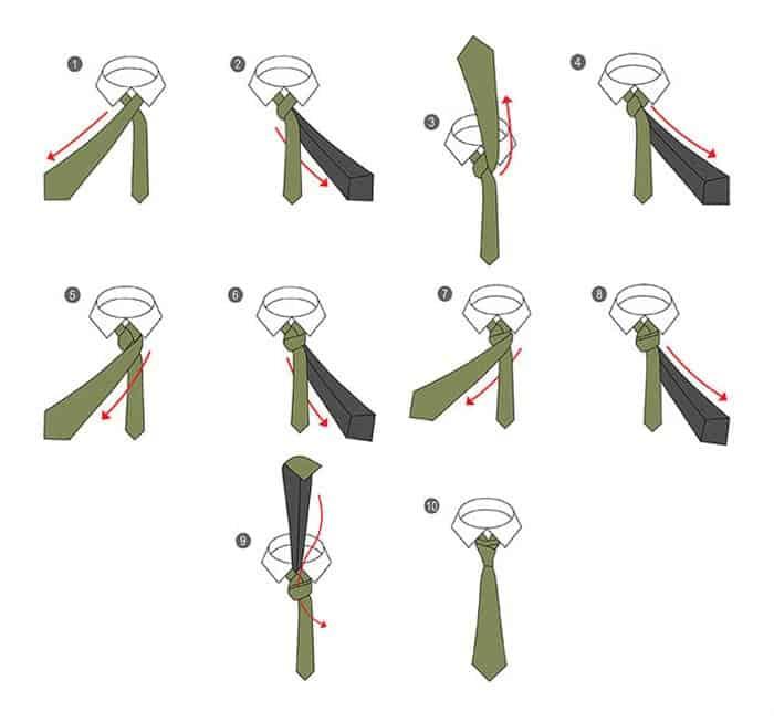 Памятка каждому мужчине и не только 18 способов завязать галстук