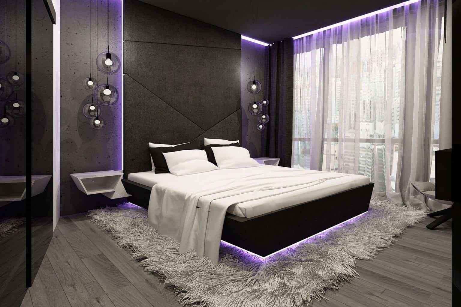 Дизайн спальни в стиле хай-тек, как показатель вкуса, благополучия и успеха
