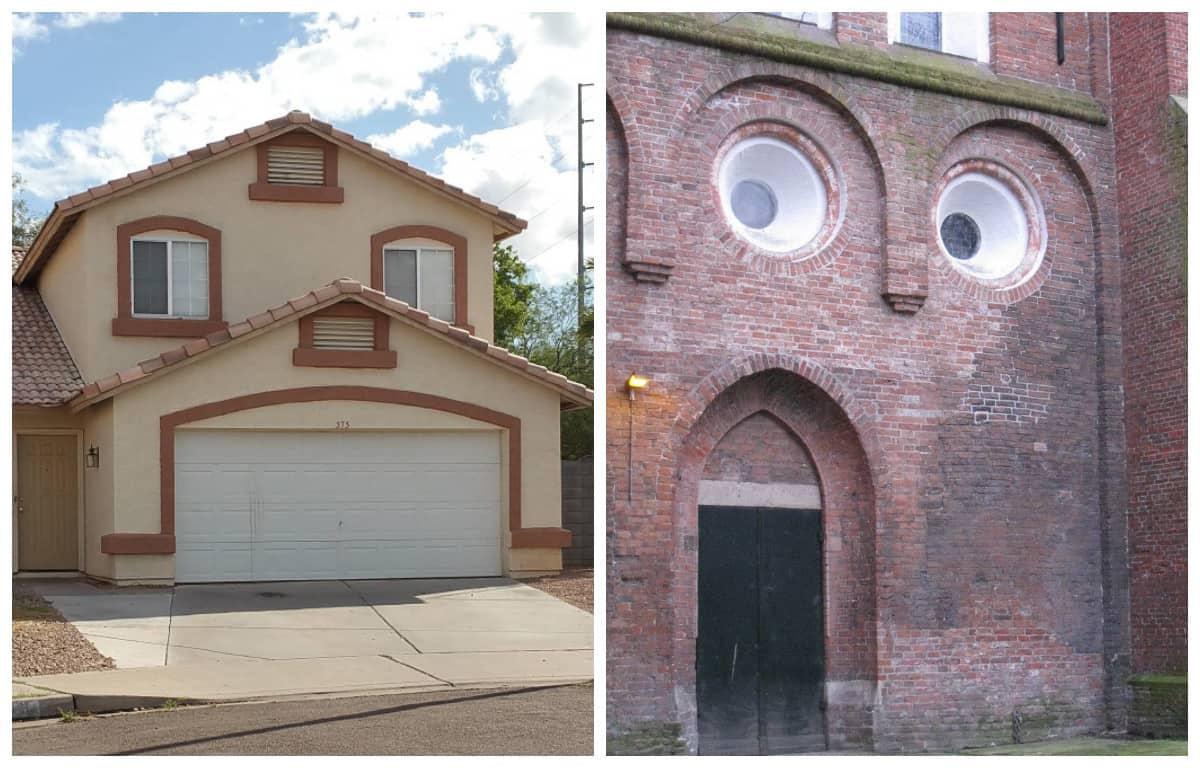 Вам тоже кажется, что эти дома живые, и наблюдают за вами? Типичная парейдолия, батенька!
