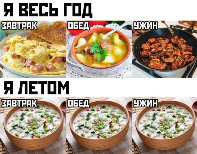 Фото приколы с мемами за день и холодный суп