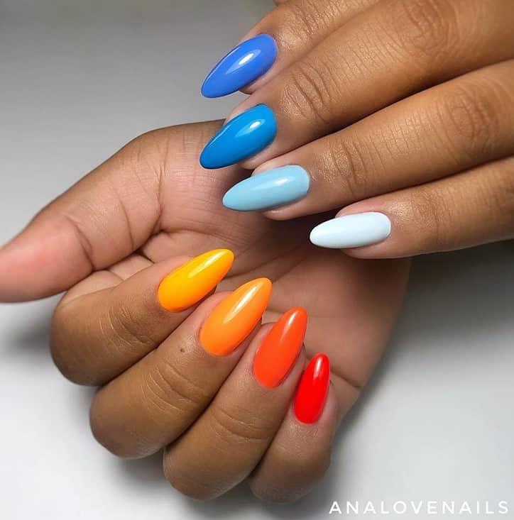 Наши руки не для скуки: разноцветный маникюр и варианты его выполнения