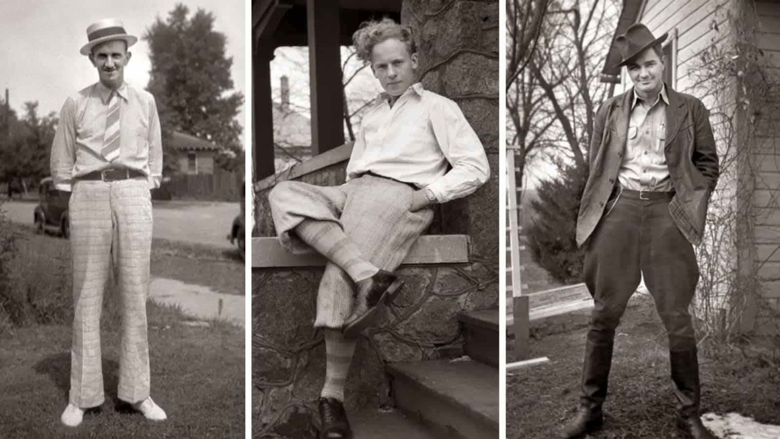 Широкие плечи и тонкая талия: 45 фото о мужской моде 1930-х годов