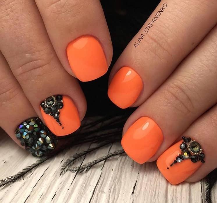 Оранжевый маникюр- это красиво!: идеи, варианты, доказательства