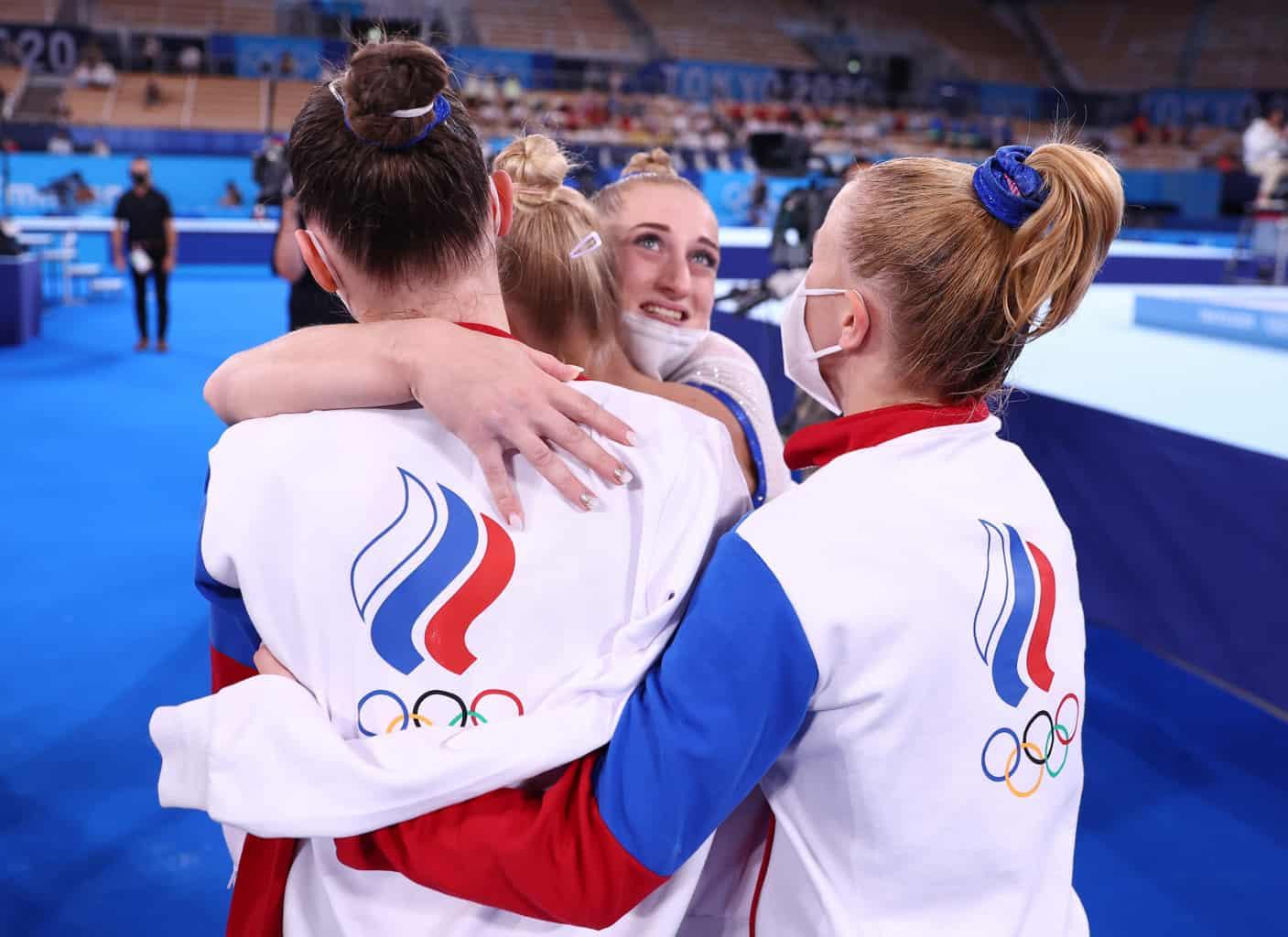 Российские гимнастки впервые в истории выиграли командные соревнования на Олимпиаде