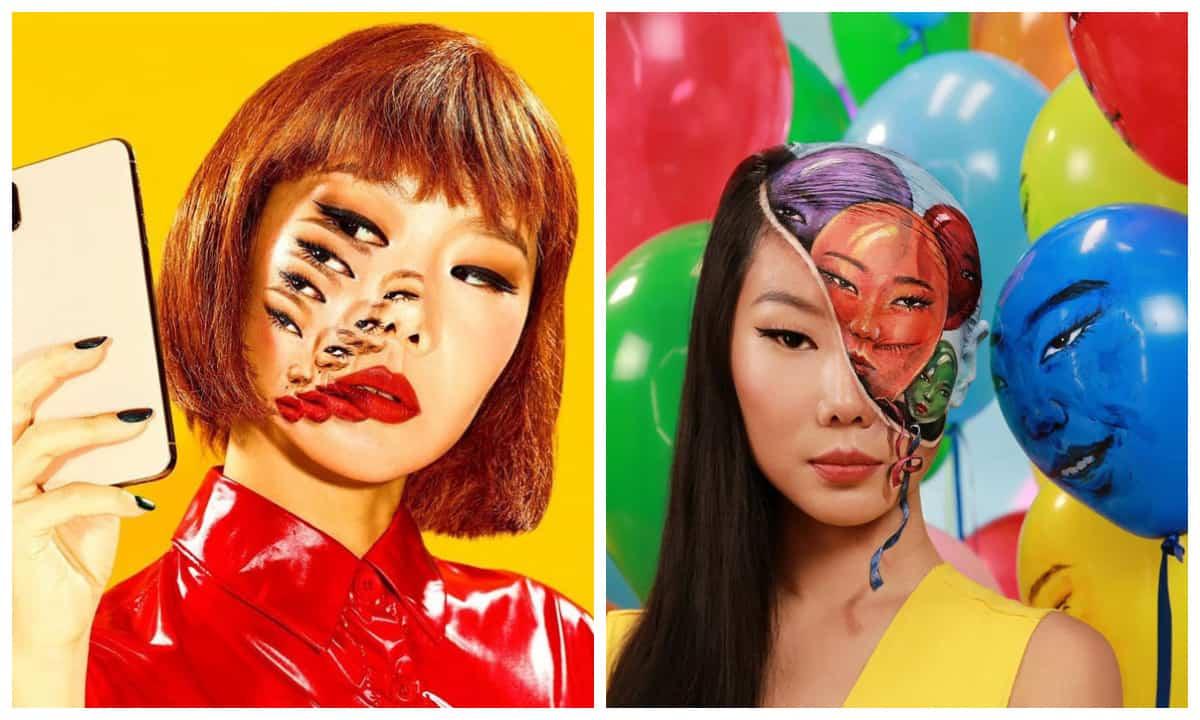 Без фотошопа! Корейская художница обрела вирусную славу, превратив себя в оптическую иллюзию