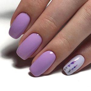 Фиолетовый маникюр: кому идет, кому не подходит, сочетание цветов и масса примеров