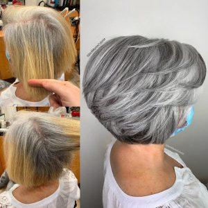 Примеры стильных причесок на седые волосы, которые помогут освежить ваш образ