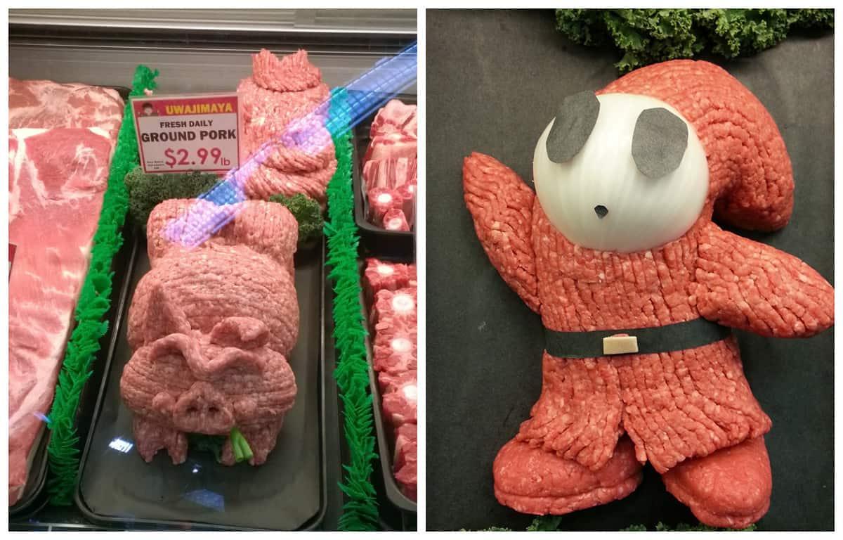 Когда менеджер мясного отдела в душе - художник!
