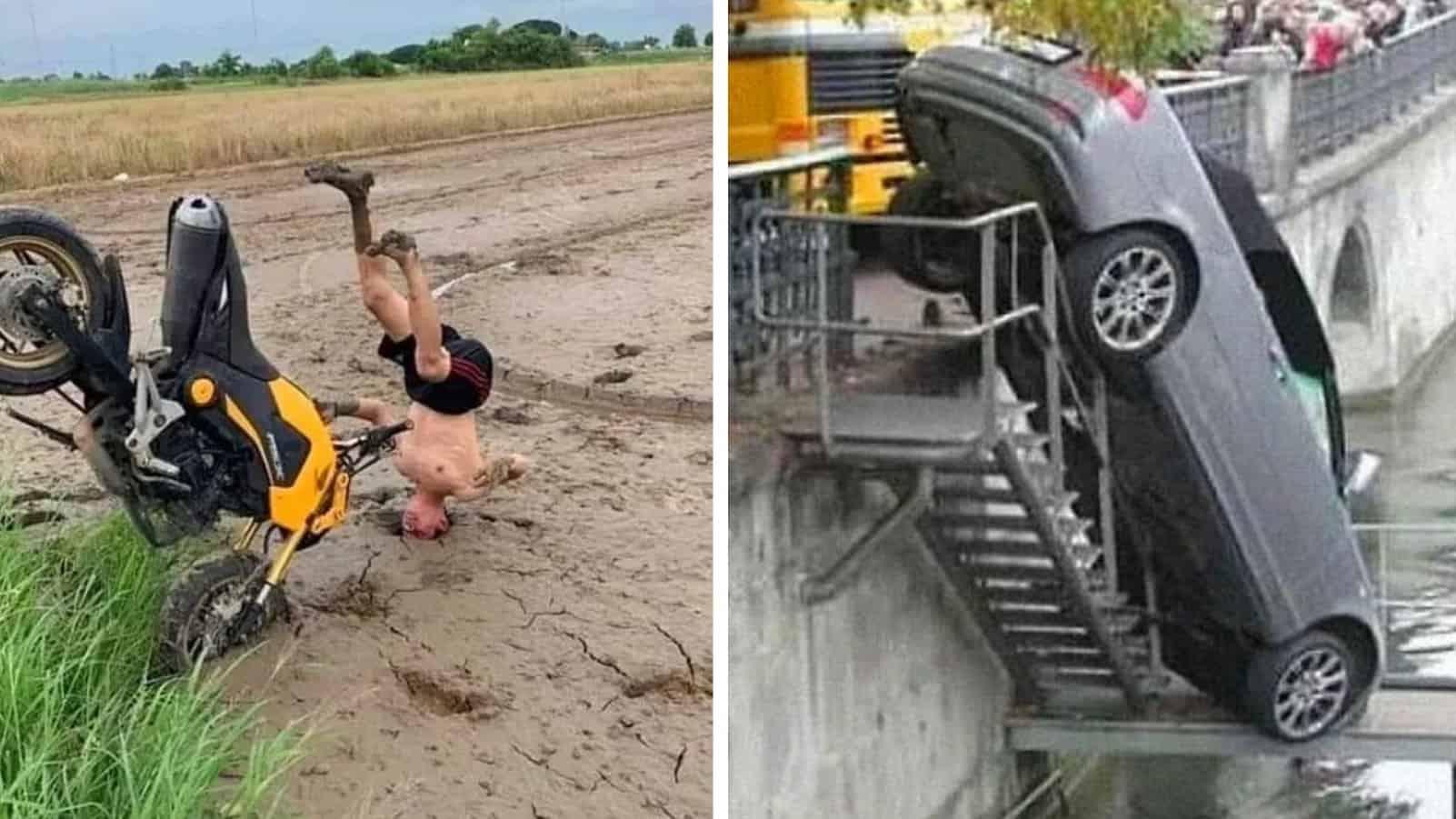 Когда дураки и дороги объединили усилия: Смешные примеры плохих водителей