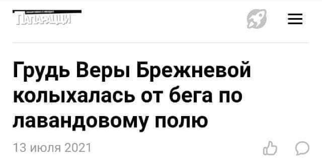 Заголовки, которые мы заслужили и Вера Брежнева