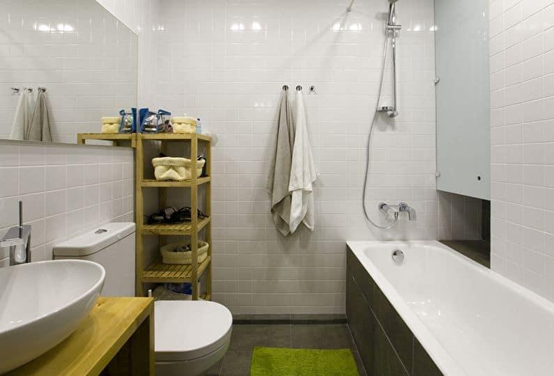 Как совместить практичность и красивый дизайн в маленькой ванной комнате: советы, варианты, примеры