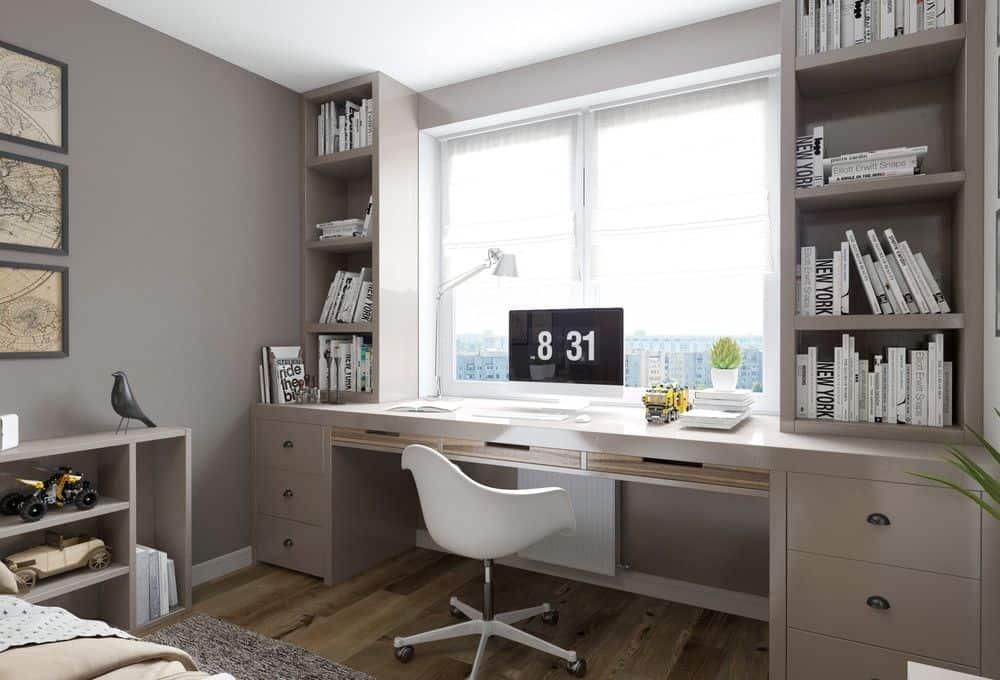 Практичные и полезные советы для тех, кто хочет обустроить рабочее место у окна