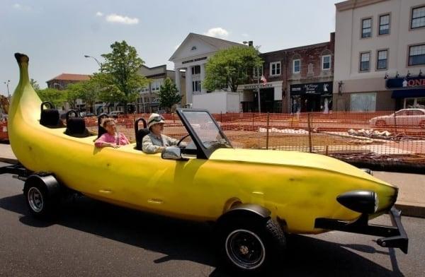 Бананомобиль и ещё 19 удивительных машин, которые сломают представление о транспорте