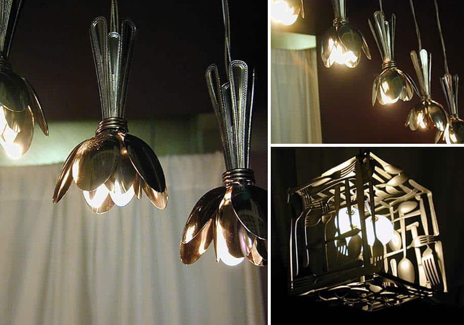 22 примера удивительных светильников и люстр, сделанных из повседневных предметов