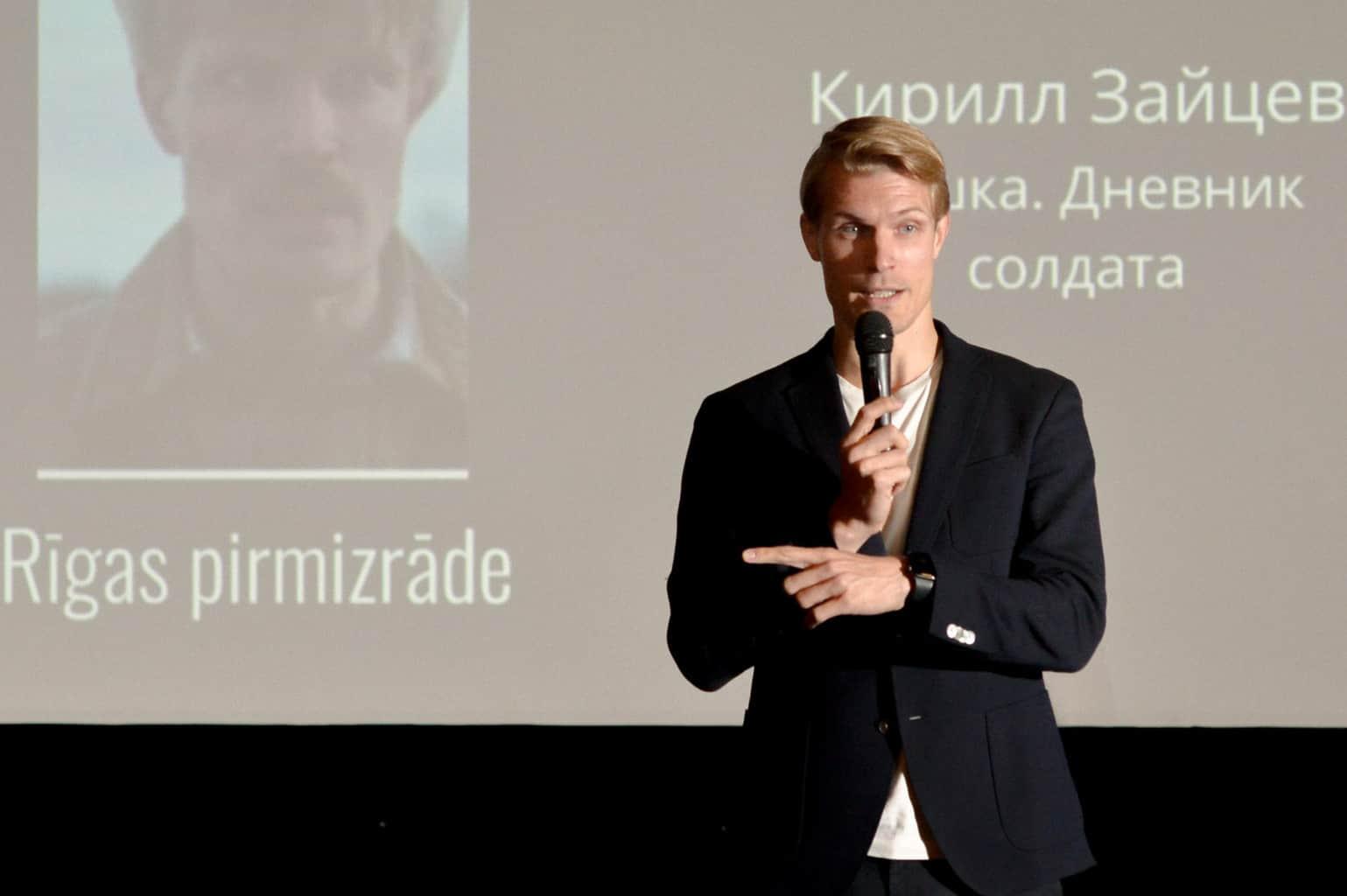 В Риге прошла премьера фильма «Сашка. Дневник солдата»